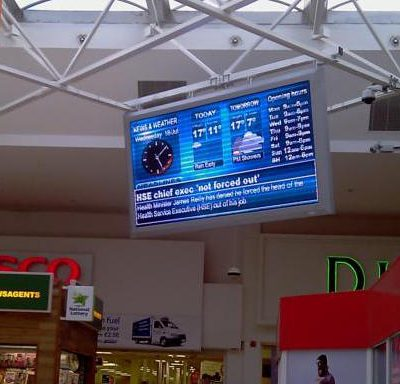 96cm x 192cm LED Display Sign Navan PC