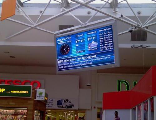 96cm x 192cm LED Display Sign Navan PC